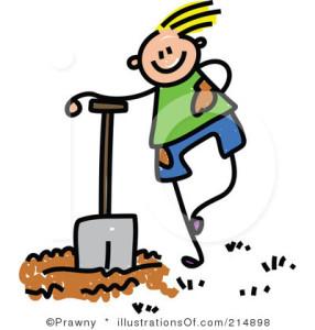 Cartoon holding shoveljpg