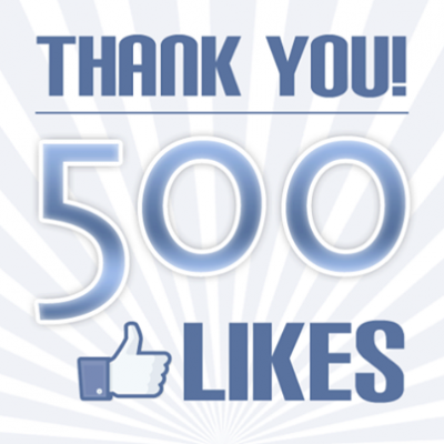We Reached A Milestone – Announcing 500 Likes On Facebook